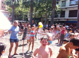 Water War on Plaza Iglesia