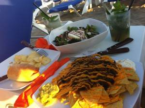 comida de la playa
