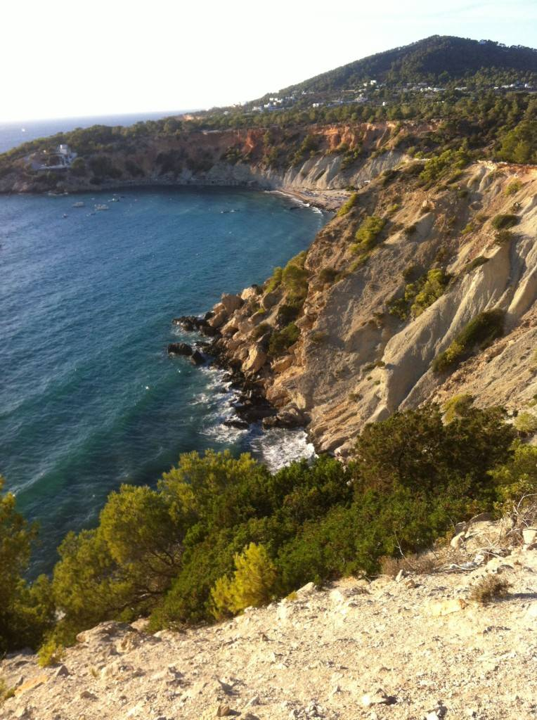 Ibiza beaches - sitting on the cliff