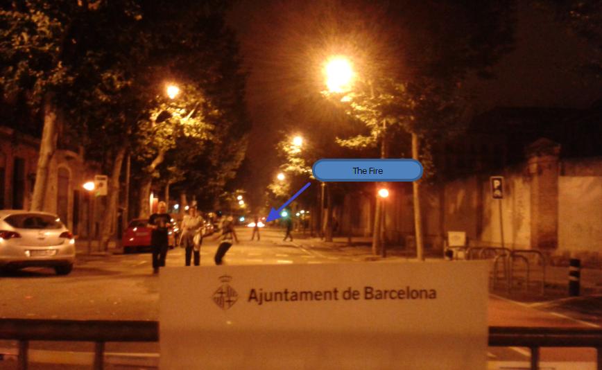 Fiesta - the fire on the street of barcelona