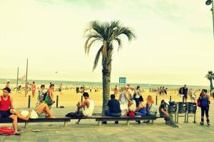 Barceloneta Beach - not for pure pleasure