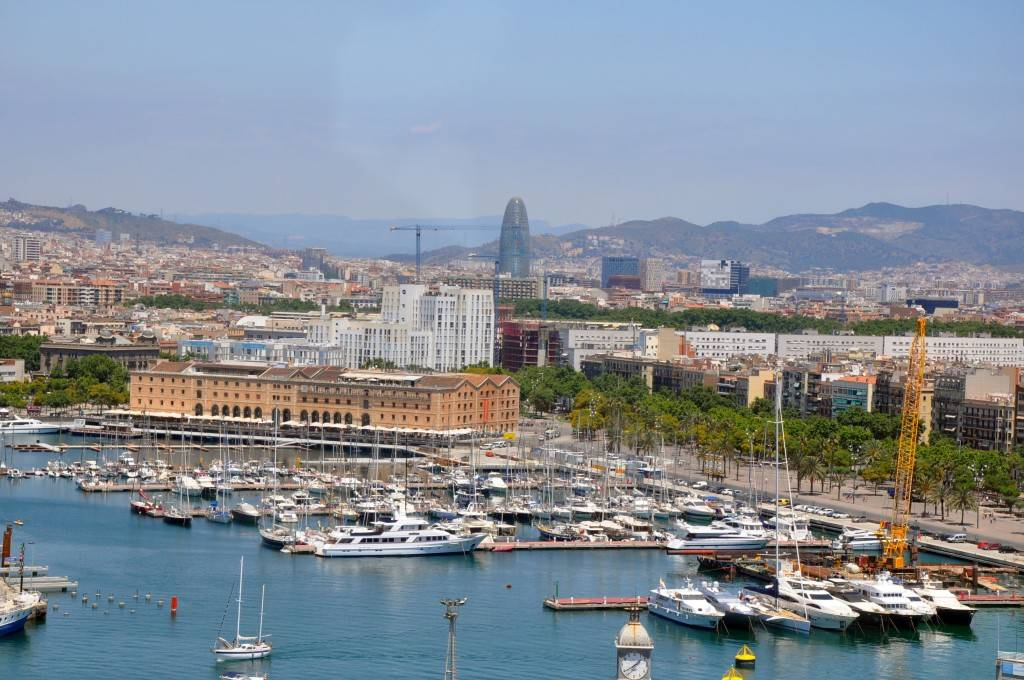 Barcelona attractions - Port and the cucumber