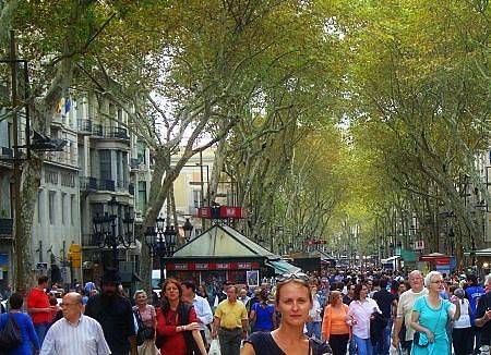 Las Ramblas and the horror on my face