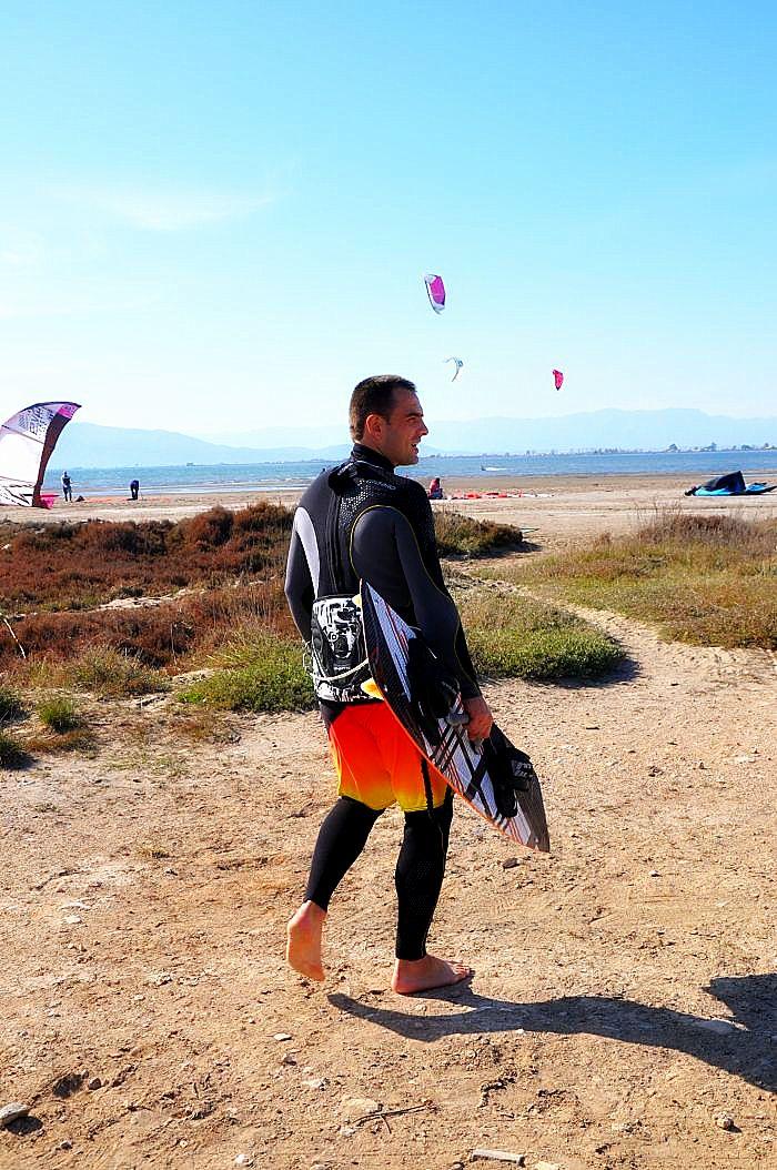 Kitesurfing in Delta Ebro