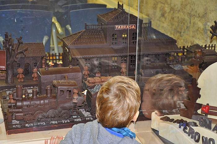 chocolate museum -chocolate train