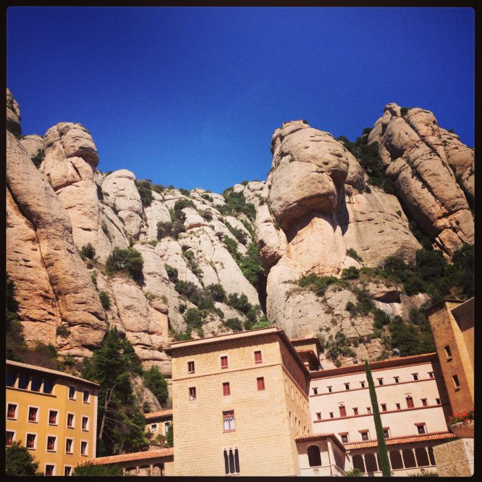 The human looking rocks in Montserrat