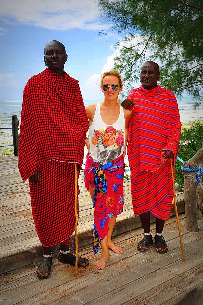 Zanzibar island - With Maasai 'friends' - the one on the left was quite proud and not very keen to pose