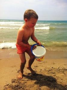 best beach - budowanie zamku