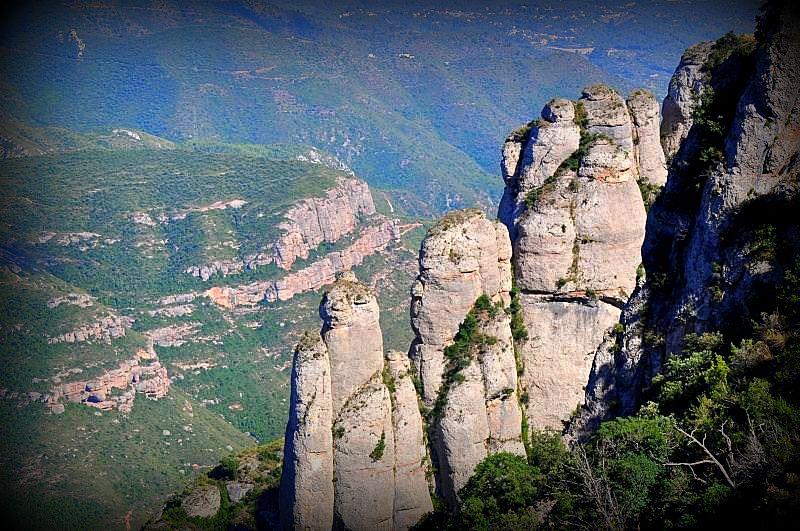Montserrat mountain view