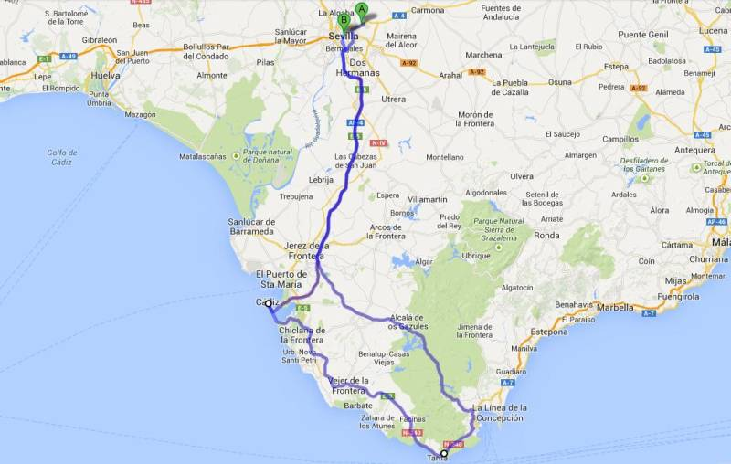 Andalusia, kitesurfing, tapas, spain This is how we travelled
