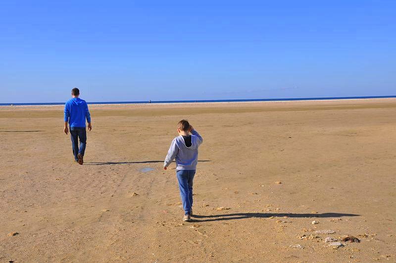 Andalusia, kitesurfing, tapas, spain  Walking towards the ocean