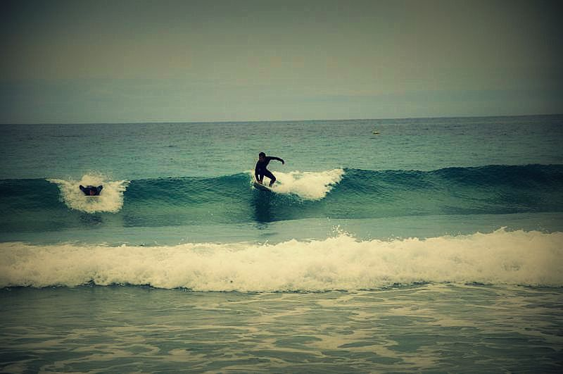 Andalusia, kitesurfing, tapas, spain Surfing in cold waters of the ocean - Tarifa