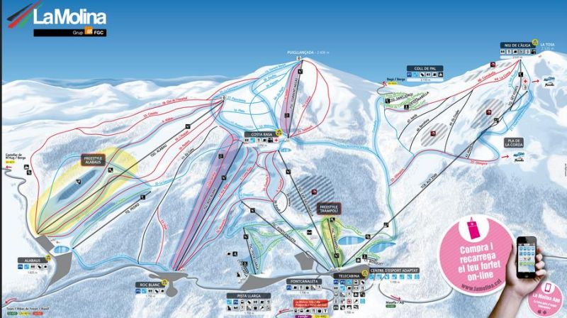 molina, barcelona, skiing, snowboard, catalonia, costabrava, spain, ski resort, traveling, inspiration,fc barcelonaSki Slopes in La Molina